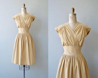 City Safari dress | vintage 1980s wrap dress | khaki cotton dress