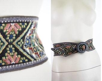 Vintage 70's Tapestry Thick Adjustable Unisex Belt