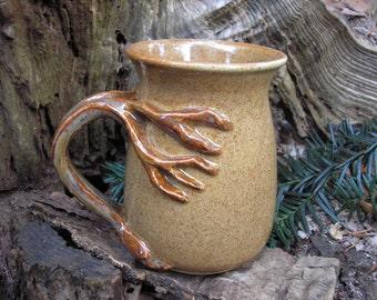 Tree  mug for the nature lover, generous 16 oz. capacity,  tea mug , coffee mug, handmade mug, favorite mug