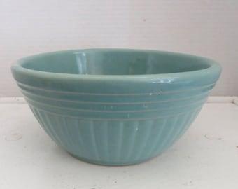 Vintage/Antique Large Blue/Green Glazed Stoneware Mixing Bowl