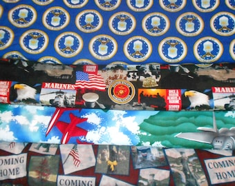 MILITARY #2  Fabrics, Sold INDIVIDUALLY not as a group, by the Half Yard