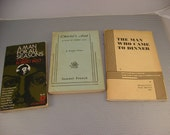 3 Vintage 1960s Theatre Plays Scripts, Charley's Aunt, A Man for All Seasons, The Man Who Came to Dinner