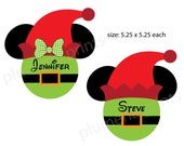 Disney Inspired Handmade Red Hat His and Her Elf Mouse Head Magnets for Merrytime Disney Cruise