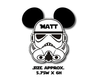 Disney Inspired Star Wars Storm Trooper Mouse Head Magnet for Disney Cruise