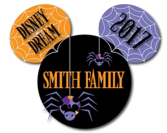 Disney Inspired LARGE Halloween Spider Family Magnet