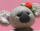 Valentine's Day Koala polymer clay figurine