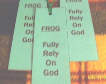 FROG Fully Rely On God Laminated Bookmarks - Set of 3