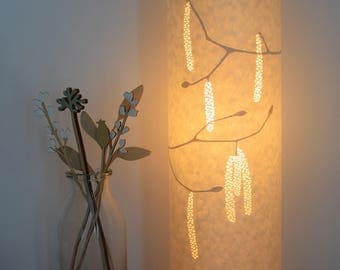 Tall Hazel Catkins table lamp