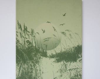 Lovely Beach Sunset Screenprint Picture
