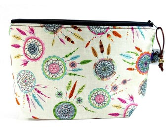 Zippered NOTIONS BAG with zipper pull -  Dream Catcher