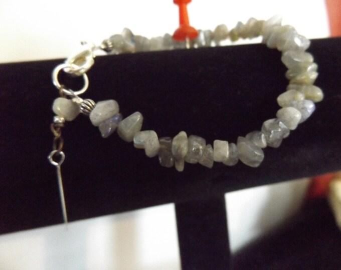 Raw Labradorite Crystal Bracelet, Labradorite Jewelry, Crystal Bracelet, Mystical Jewelry, Spiritual Jewelry, Crystal Jewelry, Raw Crystals