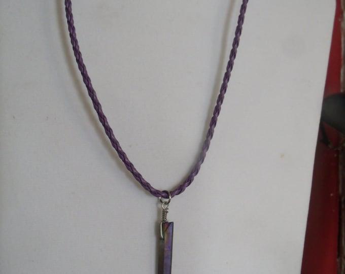 Titanium Quartz Necklace, Titanium Aura Quartz Crystal, Titanium Crystal Jewelry, Mystical Crystal Jewelry, Quartz Crystal jewelry, Crystal