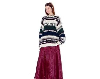 OMG HALF OFF oversized boyfriend sweater / mens large / knit sweater oversized sweater oversized jumper sweater dress pullover 90s grunge