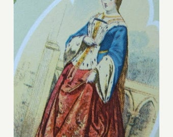 ONSALE Antique French Les Modes Queen Collector Cards