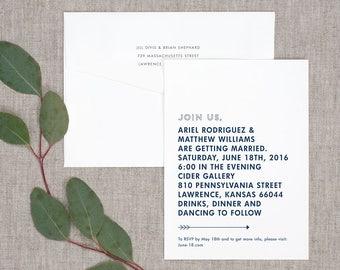 Modern Statement Wedding Invitations - Classic Modern Typography Bold