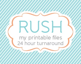 Rush turnaround time, email delivery within 24 hours