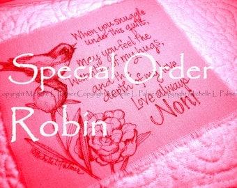 Special Order ROBIN