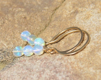 Welo Opal Earrings 24k Gold Vermeil