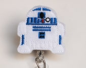 Star Wars R2D2 Feltie ID Badge Reel - Retractable ID Badge Holder - Zipperedheart