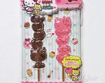 Sanrio Hello Kitty clear stick chocolate mold
