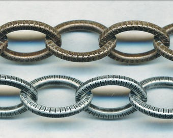 GREAT TEXTURED LIN Chain Priced Per Foot 12x15mm
