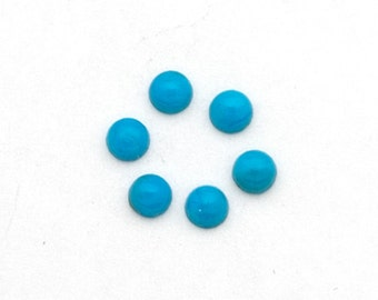 3mm TWO Select Grade Blue Turquoise Cabochons Cab Cabs