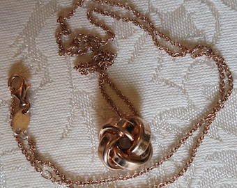 A Rose Gold Plate Sterling Necklace by Dyadema