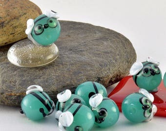 Lampwork glass ZOMBEE charm sized beads -made to order beads - from Izzybeads SRA UK