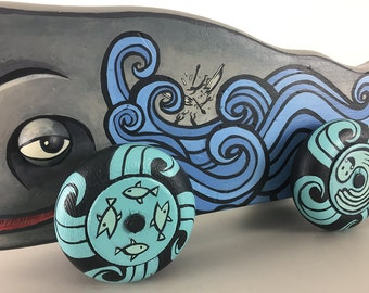 Giant Whale Push Art Toy