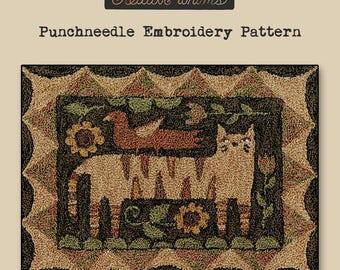 Punchneedle | Teresa Kogut | Pattern | Needlwork | DIY | Crafts | Tiger Cat | PN157