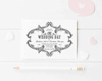 Wedding Invitation Stamp   Wedding Stamp   Custom Wedding Stamp   Custom Stamp   Personalized Stamp   Vintage Wedding Invitation   W5