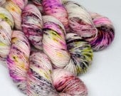Hand Dyed Speckled Yarn - SW Merino Singles - Superwash Merino - 400 yards -  Party At My House