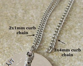 24 inch  3x4mm curb chain stainless steel