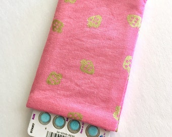 Pill Case Birth Control Sleeve - Golden Strawberries