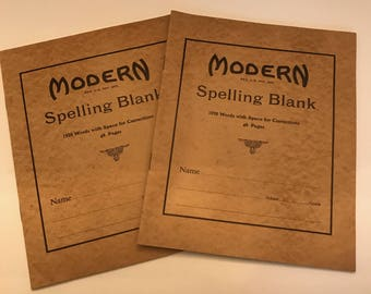 New Old Stock- Blank Spelling Notebooks