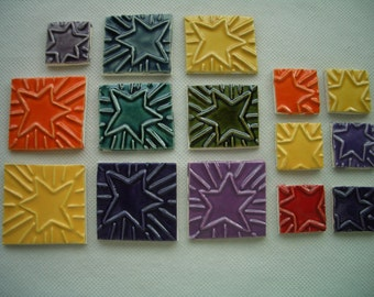 15ST  -  STAR SQUARES - Ceramic Mosaic Tiles