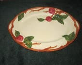"Vintage 1960s Franciscan Pottery APPLE 14"" oval Serving Platter PERFECT"