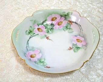 Hand Painted China Trinket Dish, 1928