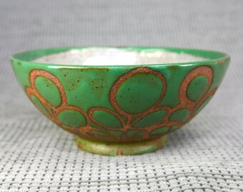 Green and Grey Leaf Bowl
