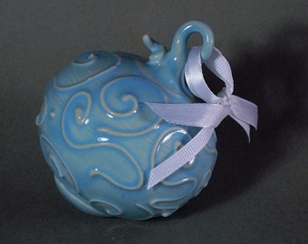Ceramic ornament Turquoise, one of a kind