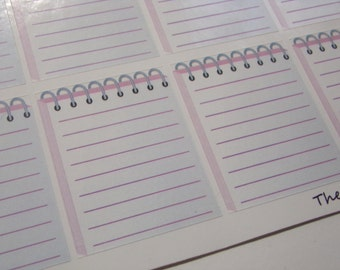 Notepad Stickers for your Erin Condren Life Planner