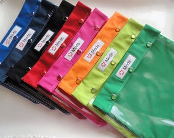 Medications Clear Pocket Pouch Organizer First Aid Inhaler Diabetes Gear Epi Pens Bag TSA Friendly 7x9 Assorted Solid Colors Meds w/ ID Card