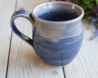 Pottery Mug in Shades of Purple Glazes Handmade Stoneware Coffee Cup Made in USA Ready to Ship