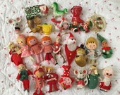 Holiday Vintage Christmas Lot  25 Assorted Japan Ornaments