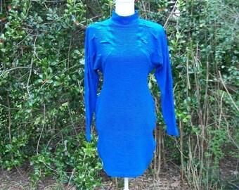 ON SALE 80s Bodycon Wiggle Dress size Small Medium Cristina Sexy Bandage Dress