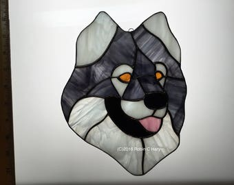 Eurasier Suncatcher in Stained Glass