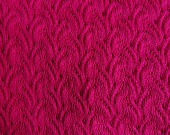 Fuchsia Stretch Lace Fabric, Knit Stretch Lace Fabric, Stretch Knit Lace, Hot Pink Lace Fabric, Lace Fabric Yardage, 1+ Yard