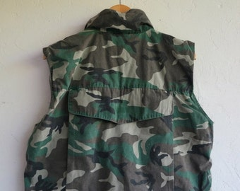 30% off SPRING SALE Camo Army Vest