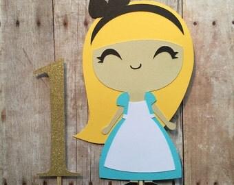 Alice In Wonderland Cake Topper- First Birthday - Babyshower