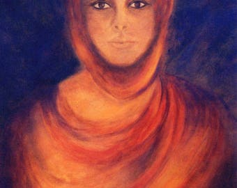Goddess Art Print, Goddess Poster, Goddess Art, Spiritual Art, Portrait, Woman, Wall Decor, Home Decor
